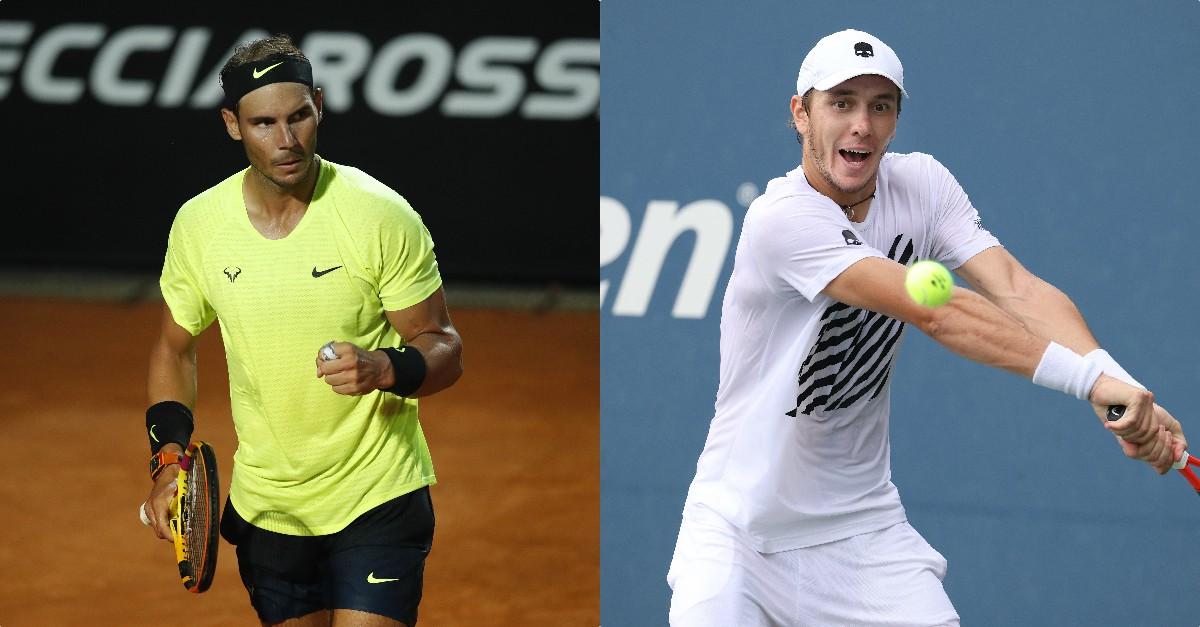 Rafael Nadal y Egor Gerasimov. (Getty)