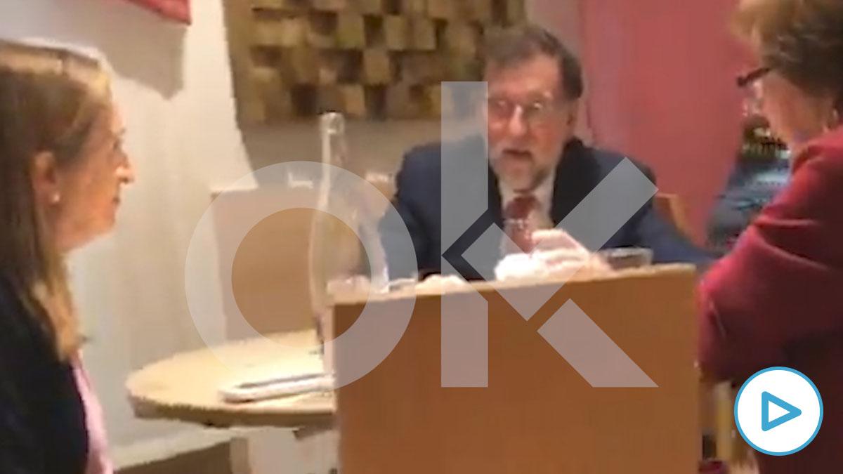 Mariano Rajoy con Ana Pastor y Carmen Martínez Castro