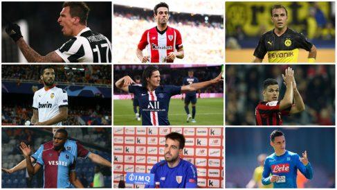 Algunos de los jugadores libres en le mercado: Mandzukic, Susaeta, Gotze, Garay, Cavani, Callejón…