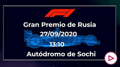 Fórmula 1 Rusia 2020: horario y dónde ver en directo el GP de Rusia por TV.