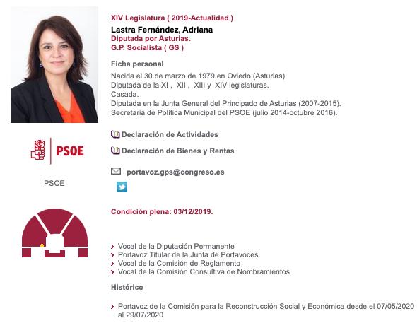 Lastra dice que el Código Penal es de hace 200 años pero ¡se aprobó en 1995 con el PSOE!