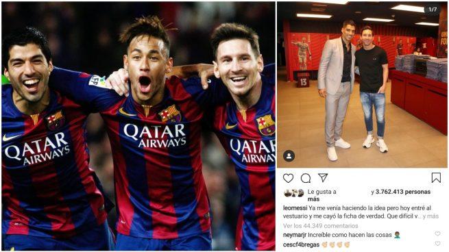 Suárez, Neymar, Messi y el mensaje del brasileño.