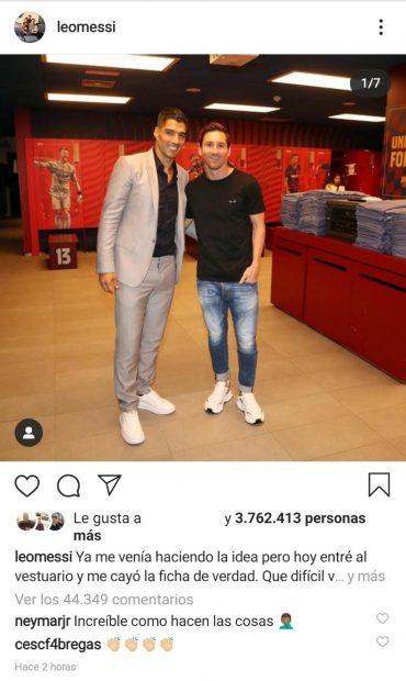 La respuesta de Neymar a Messi.