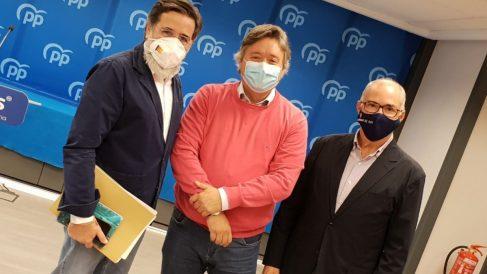 Alfredo Castelló, Luis Santamaría y Fernando de Rosa. Foto EP