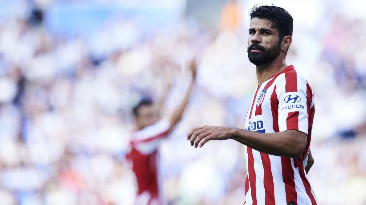 Diego Costa, en un partido con el Atlético de Madrid. (Getty)