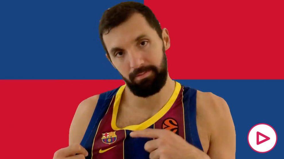 Nikola Mirotic renueva con el Barça. (fcbarcelona.cat)