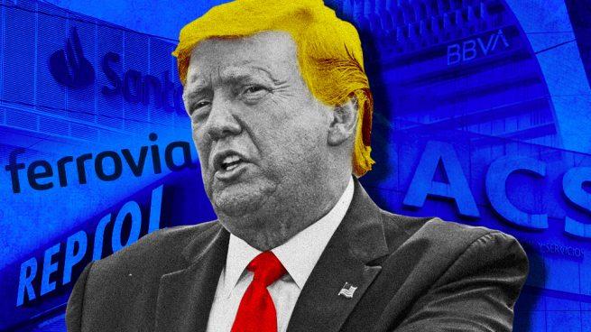 Santander, BBVA, Ferrovial, ACS y Repsol, los grandes beneficiados del Ibex si Trump sale reelegido