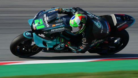 Franco Morbidelli, durante el Gran Premio de Cataluña de Moto GP. (AFP)
