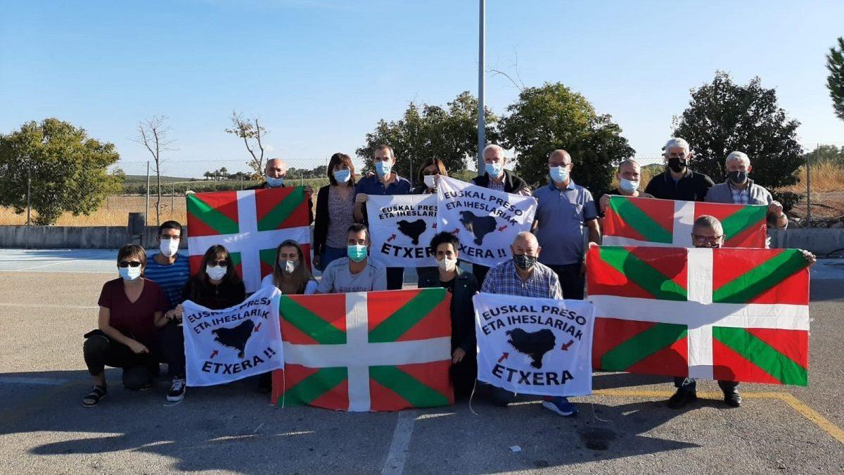 Salida de prisión del preso de ETA Rufino Arriaga