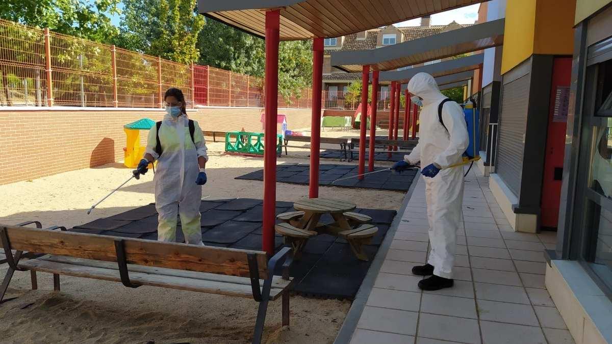 Fuenlabrada refuerza la desinfección en 54 centros educativos. Foto: EP