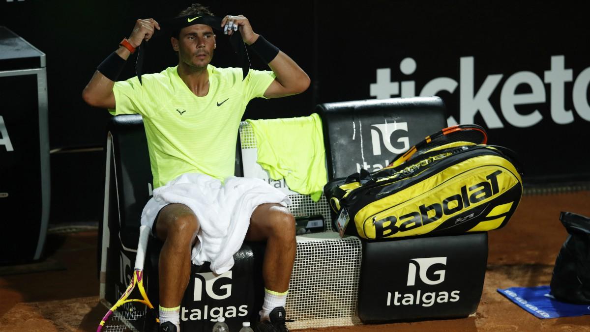 Rafael Nadal, en un partido. (Getty)