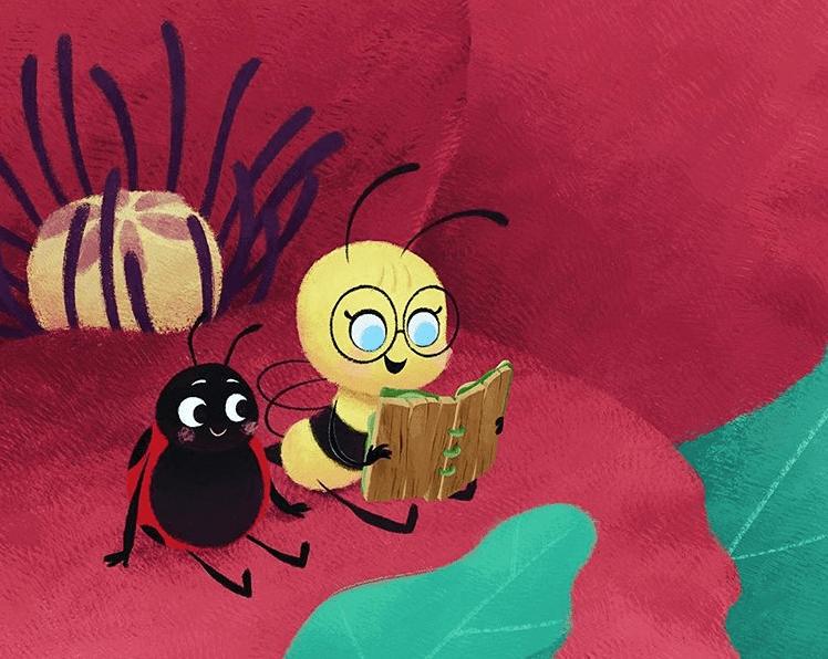 Ilustración de 'La abeja Eli' @IG