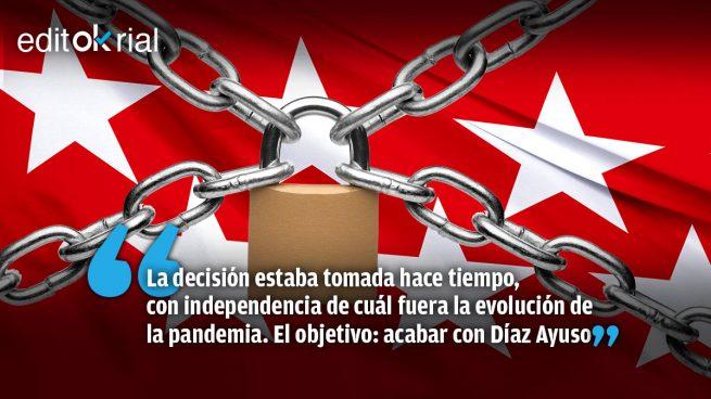 Sánchez fuerza el confinamiento de Madrid por puro sectarismo ideológico