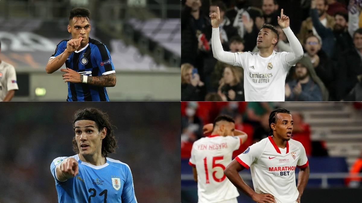 Lautaro Martínez, Mariano Díaz, Edinson Cavani, Jules Koundé.