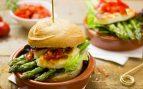 Receta de hamburguesa de espárragos y mozzarella