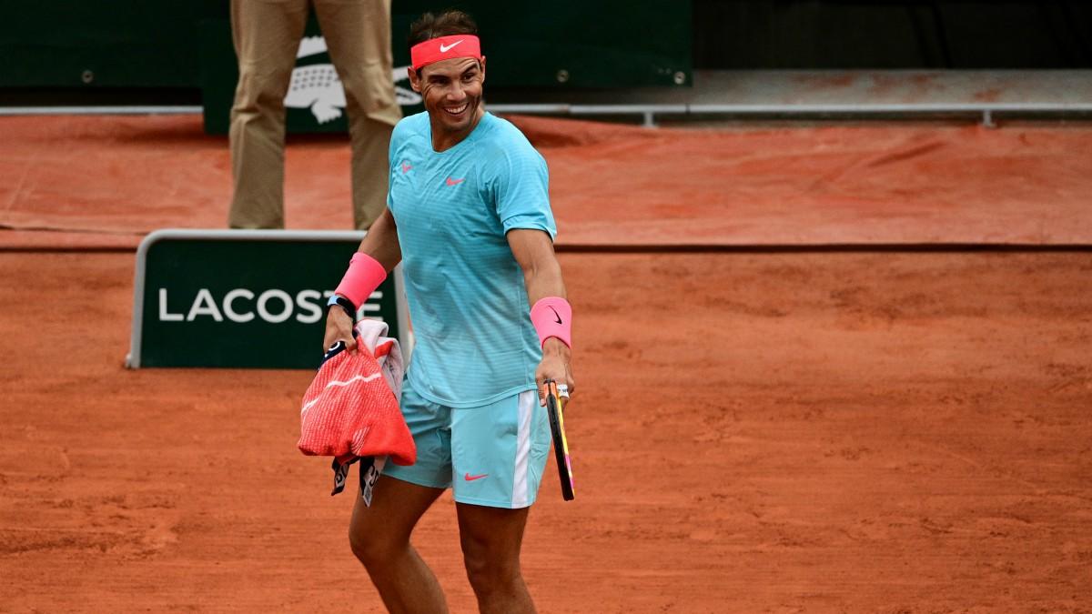 Rafael Nadal, en el partido ante Gerasimov. (Getty)
