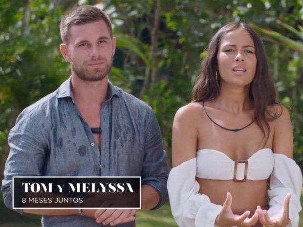 Tom, concursante de La isla de las tentaciones, junto a su novia Melyssa