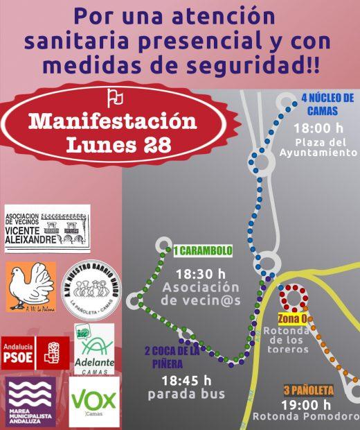 Manifestación Camas lunes 28 de septiembre