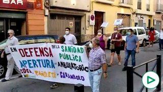 Manifestación en Camas por la reapertura de sus ambulatorios