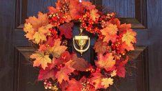 Pasos para poder hacer una corona de otoño con los niños