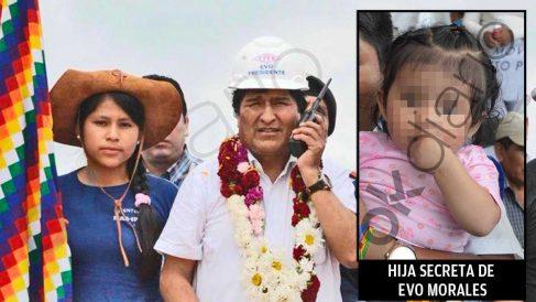 Evo Morales acompañado de la quinceañera con la que tuvo una hija secreta.