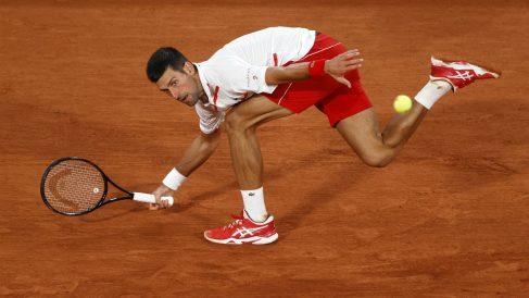 Novak Djokovic, en el partido ante Ymer. (Getty)