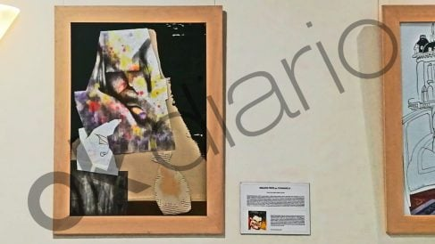 Retrato-caricatura de Indalecio Prieto en la 'Galería de Prensa' del Congreso.