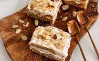 Receta de tarta de galletas con miel y requesón