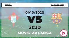 Celta-Barcelona: horario y dónde ver online en directo el partido de fútbol Liga Santander.