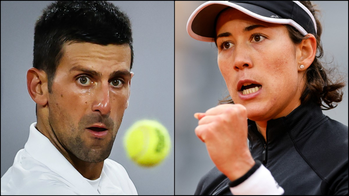 Novak Djokovic y Garbiñe Muguruza. (Fotos: AFP)