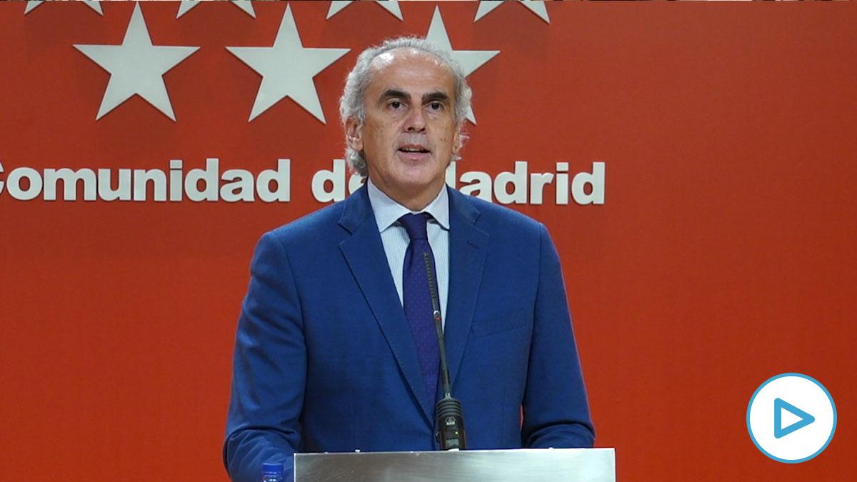 Enrique Ruiz Escudero, consejero de Sanidad en Madrid.