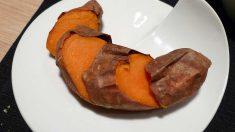 Receta de Guarnición asada de boniatos y alcachofas