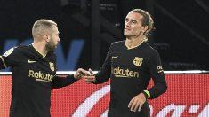 Antoine Griezmann y Jordi Alba. (Getty)