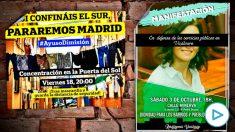 Los carteles contra Ayuso de una semana a otra