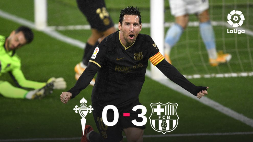 Leo Messi se desató en Balaídos.