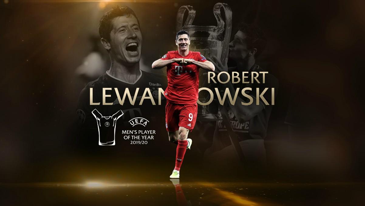 Lewandowski gana el premio a Mejor Jugador de la UEFA.