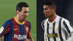 Messi y Cristiano Ronaldo volverán a verse las caras en Champions (AFP).