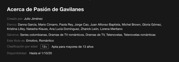 Netflix: ¿Por qué no encuentras 'Pasión de Gavilanes' en el catálogo?
