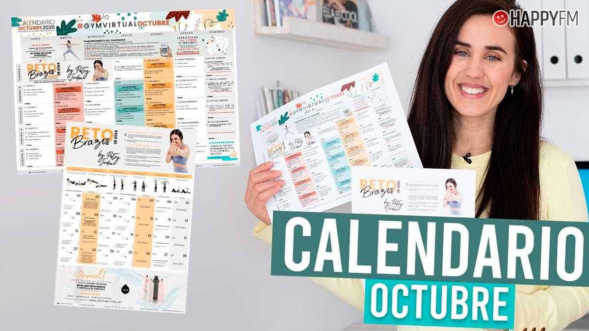 Gym virtual calendario octubre Patry Jordán