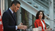 El presidente del Gobierno, Pedro Sánchez, y la presidenta de la Comunidad de Madrid, Isabel Díaz Ayuso. (Foto: Europa Press)