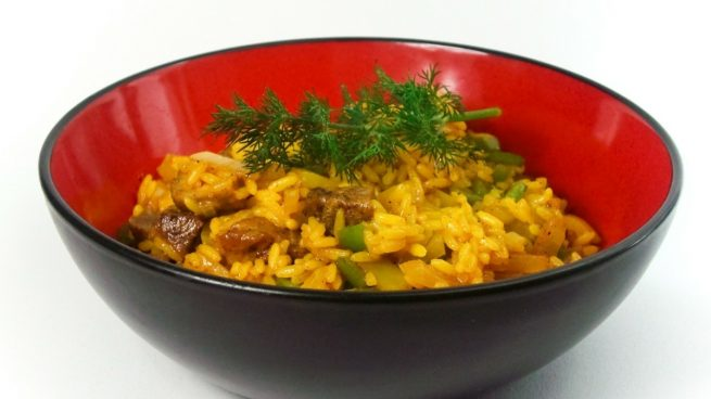 Receta de arroz al azafrán al microondas