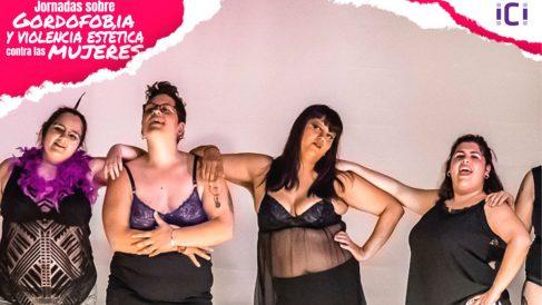 Cartel promocional de las jornadas sobre «gordofobia y violencia estética contra las mujeres».