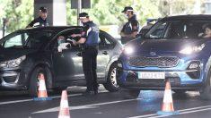 Controles policiales durante las restricciones en Madrid.