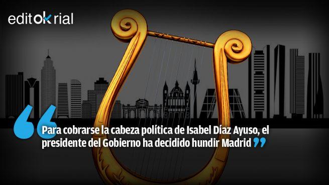 Sánchez toca la lira desde La Toja mientras contempla cómo se consume Madrid