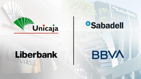 Algunas de las fusiones bancarias que están sobre la mesa.