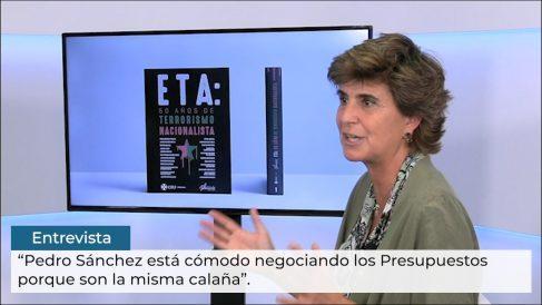 María San Gil: «Sánchez está cómodo negociando con Bildu porque son la misma calaña»