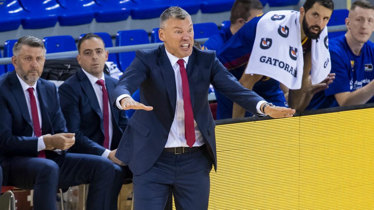 Jasikevicius, en un partido del Barcelona. (ACB Photo)