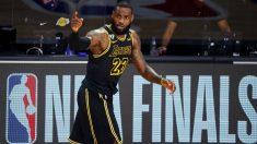 LeBron James, durante las finales. (AFP)