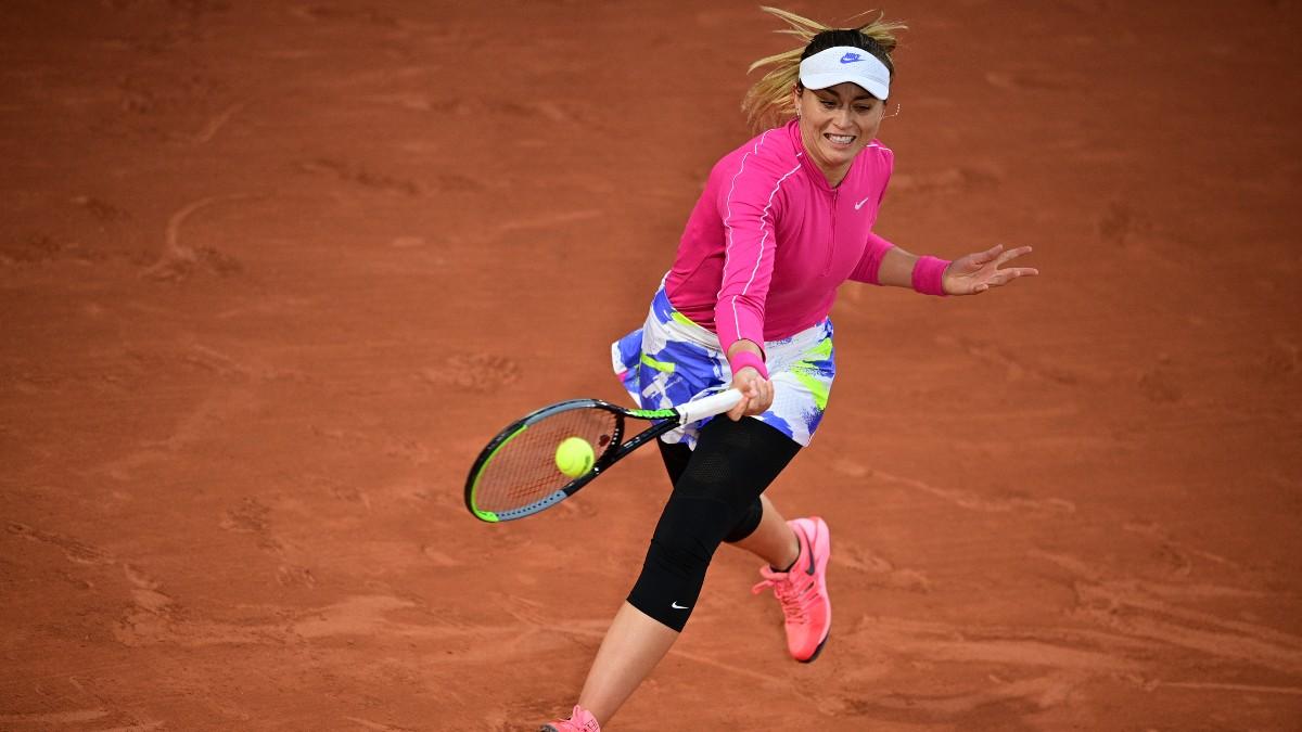 Paula Badosa fue una de las sorpresas de la jornada, al eliminar a Ostapenko (AFP).