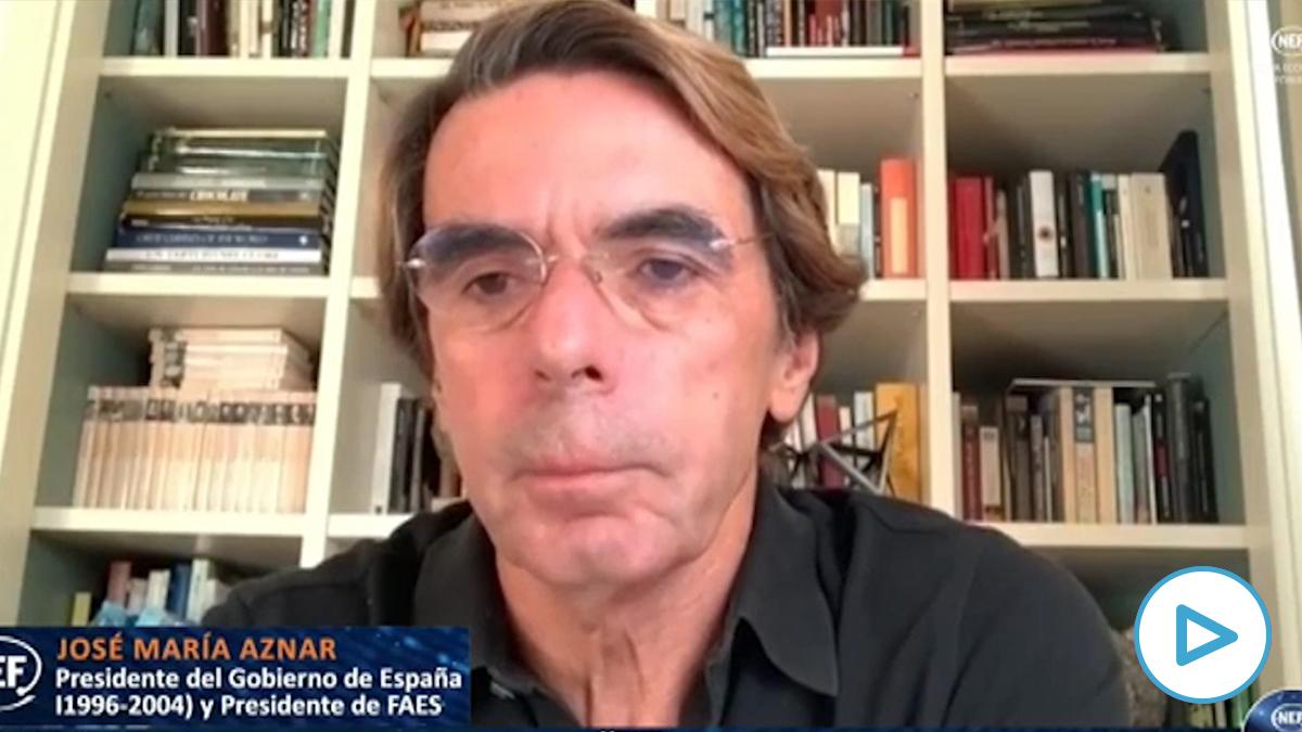 El expresidente del Gobierno, Jose María Aznar. Foto: EP
